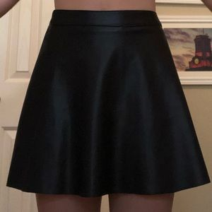 H and M faux leather skirt